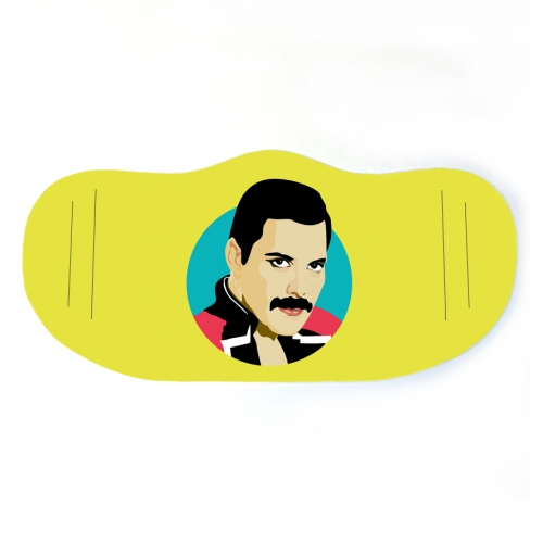 Freddie Mercury - washable face mask by SABI KOZ