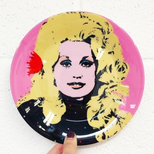 Dolly - personalised dinner plate by Wallace Elizabeth
