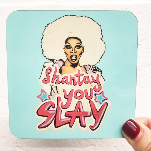 Shantay you Slay - personalised drink coaster by minniemorris art
