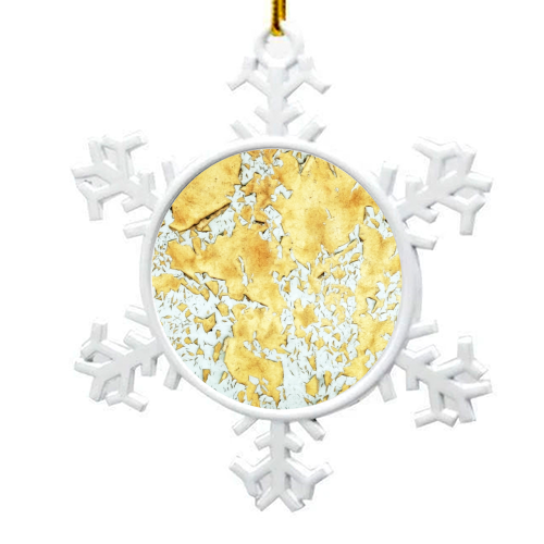 Gold - snowflake decoration by Uma Prabhakar Gokhale