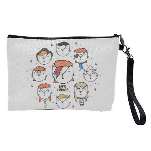 David Meowie - The 9 Lives Of - pretty makeup bag by Katie Ruby Miller