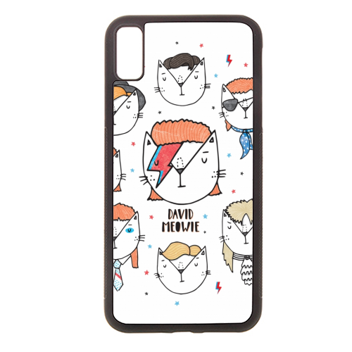 David Meowie - The 9 Lives Of - Rubber phone case by Katie Ruby Miller