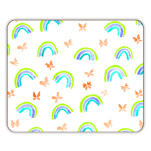 Rainbows and butterflies - photo placemat by Michelle Walker