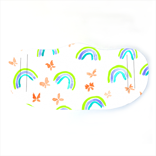 Rainbows and butterflies - washable face mask by Michelle Walker
