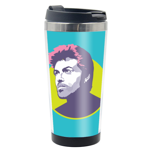 George Michael - travel water bottle by SABI KOZ
