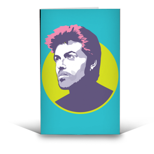 George Michael - funny greeting card by SABI KOZ