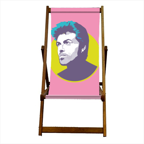 George Michael - canvas deck chair by SABI KOZ