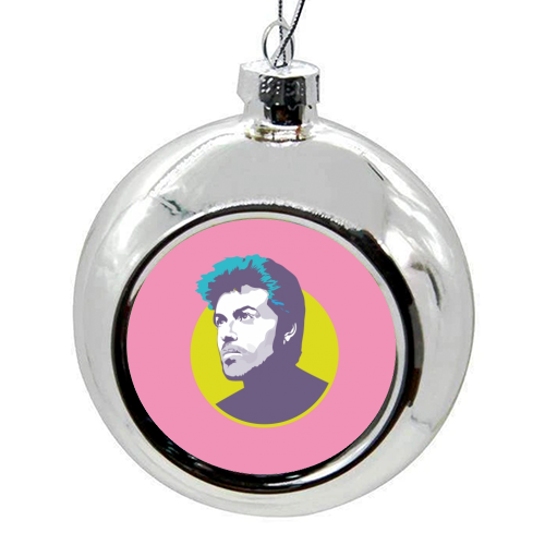 George Michael - colourful christmas bauble by SABI KOZ