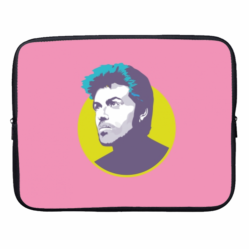 George Michael - designer laptop sleeve by SABI KOZ