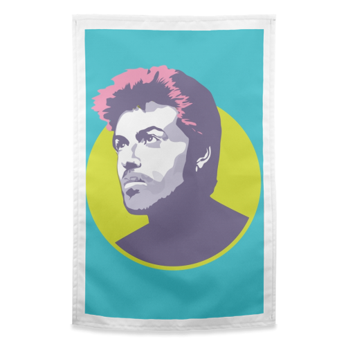 George Michael - funny tea towel by SABI KOZ