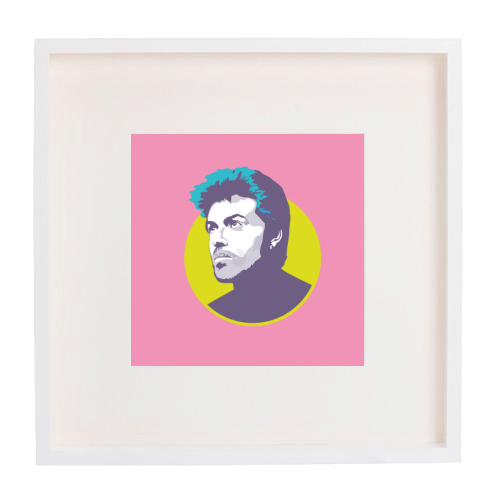 George Michael - printed framed picture by SABI KOZ