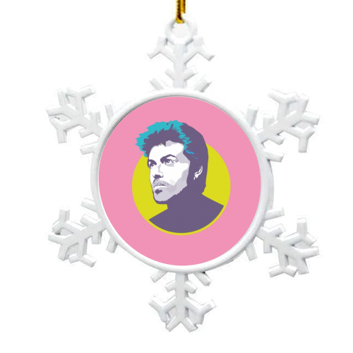 George Michael - snowflake decoration by SABI KOZ