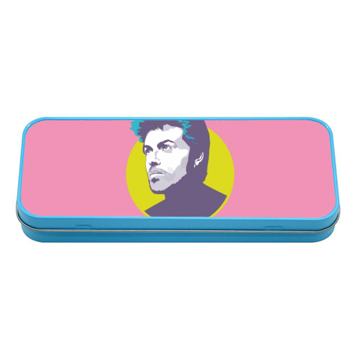 George Michael - tin pencil case by SABI KOZ