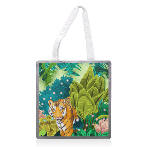 Jungle Tiger - printed tote bag by Uma Prabhakar Gokhale