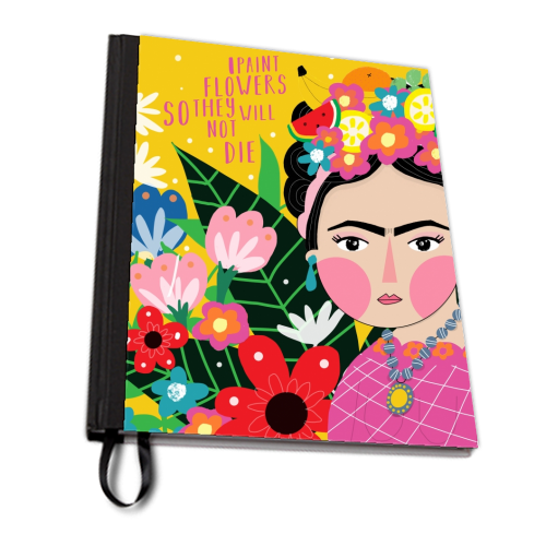 FRIDA LOVES FLOWERS - designed notebook by Nichola Cowdery