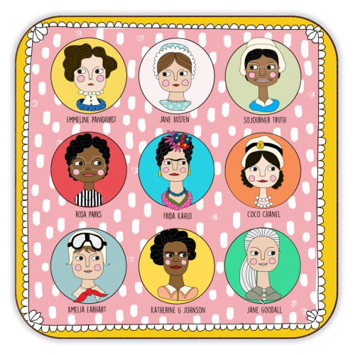 GAL'S THAT ROCK - personalised drink coaster by Nichola Cowdery