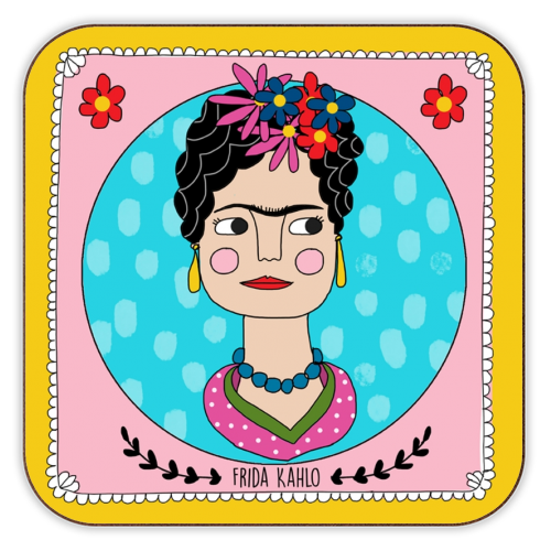 Frida Coaster - personalised drink coaster by Nichola Cowdery