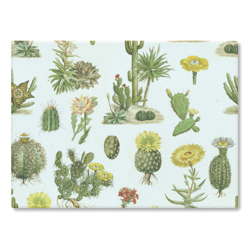 Cacti - glass chopping board by Wallace Elizabeth