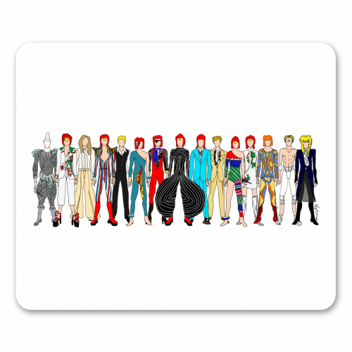 David Bowie Fashion - personalised mouse mat by Notsniw Art