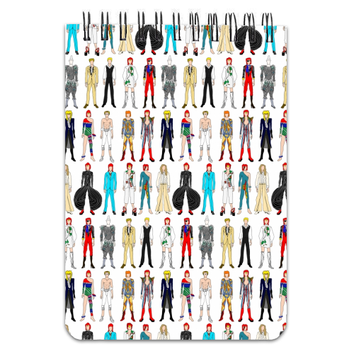 David Bowie Fashion - designed notebook by Notsniw Art