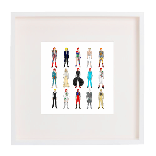 David Bowie Fashion - printed framed picture by Notsniw Art