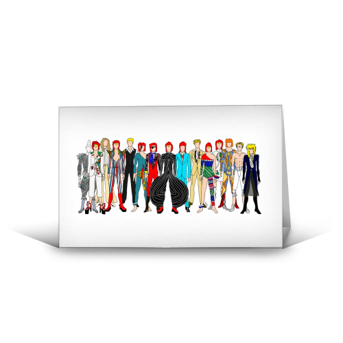 David Bowie Fashion - funny greeting card by Notsniw Art