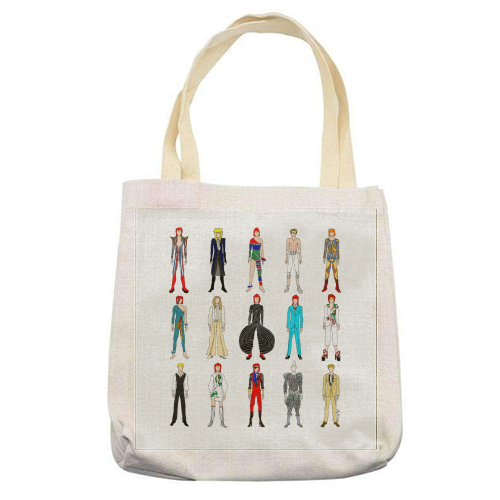 David Bowie Fashion - printed tote bag by Notsniw Art