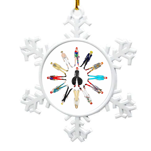 David Bowie Fashion - snowflake decoration by Notsniw Art
