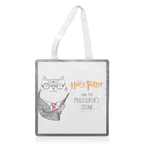 Hairy Potter And The Philosofur's Stone - printed tote bag by Katie Ruby Miller