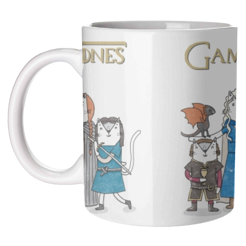 Game of Furrones - unique mug by Katie Ruby Miller