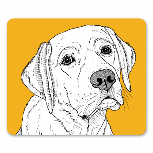 Labrador Dog Portrait - personalised mouse mat by Adam Regester