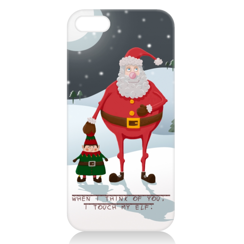 When I think of you, I touch my elf. - unique phone case by Hannah Hill