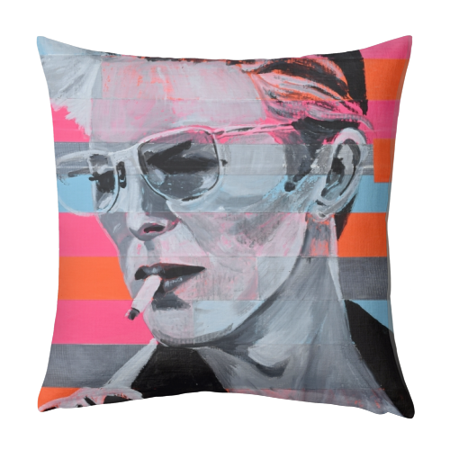 Neon Bowie - designed cushion by Kirstie Taylor