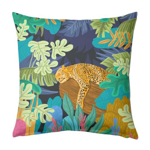 Sleeping Panther - designed cushion by Uma Prabhakar Gokhale