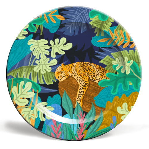 Sleeping Panther - personalised dinner plate by Uma Prabhakar Gokhale