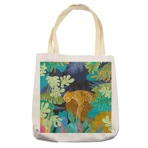 Sleeping Panther - printed tote bag by Uma Prabhakar Gokhale