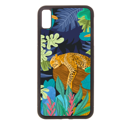 Sleeping Panther - Rubber phone case by Uma Prabhakar Gokhale