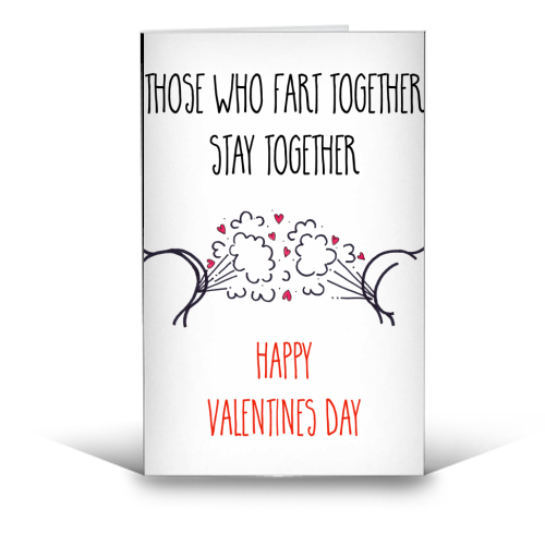 Cheeky Valentines Day Message - funny greeting card by Adam Regester