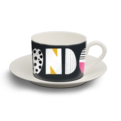 London Love - personalised cup and saucer by Nichola Cowdery