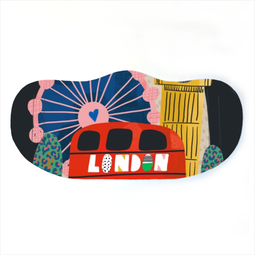 London Love - washable face mask by Nichola Cowdery