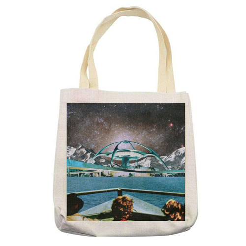 Out Of Here - printed tote bag by taudalpoi