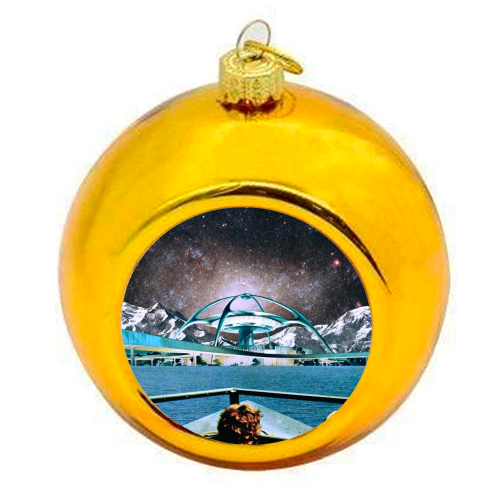 Out Of Here - colourful christmas bauble by taudalpoi