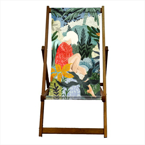 The Distracted Reader - canvas deck chair by Uma Prabhakar Gokhale