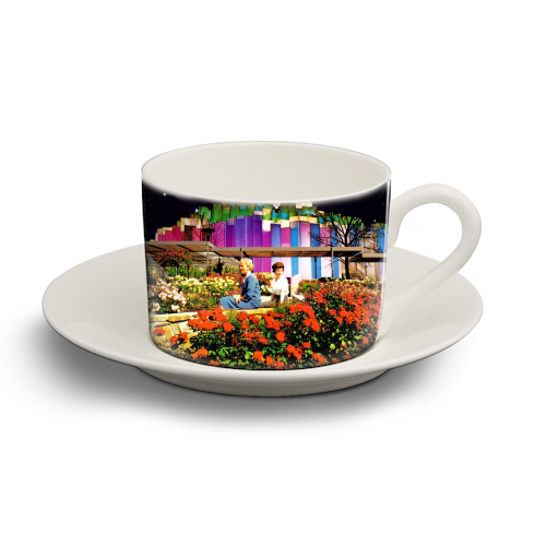 The Good Times - personalised cup and saucer by taudalpoi