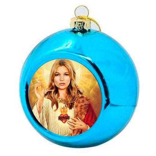 FASHION ICON - colourful christmas bauble by Wallace Elizabeth