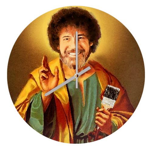 Patron Saint Of Chill - Bob Ross - creative clock by Wallace Elizabeth