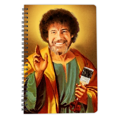 Patron Saint Of Chill - Bob Ross - designed notebook by Wallace Elizabeth