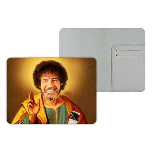 Patron Saint Of Chill - Bob Ross - designer passport cover by Wallace Elizabeth