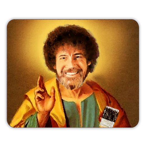 Patron Saint Of Chill - Bob Ross - photo placemat by Wallace Elizabeth