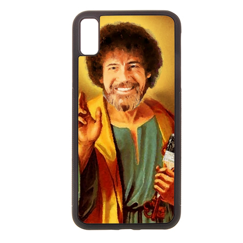 Patron Saint Of Chill - Bob Ross - Rubber phone case by Wallace Elizabeth
